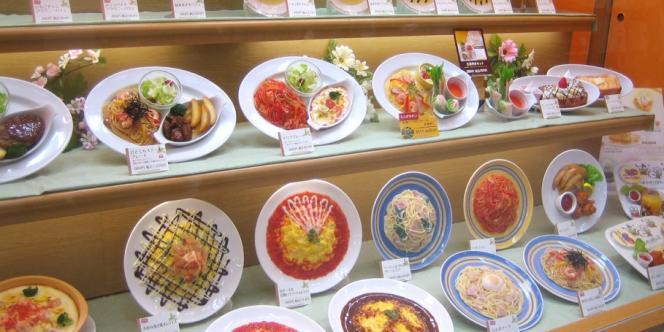 Exemple de faux plats au Japon.