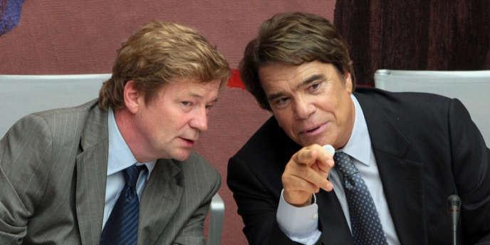 Maurice Lantourne (à gauche) a été le conseil de l'homme d'affaires Bernard Tapie. Ici en 2008.