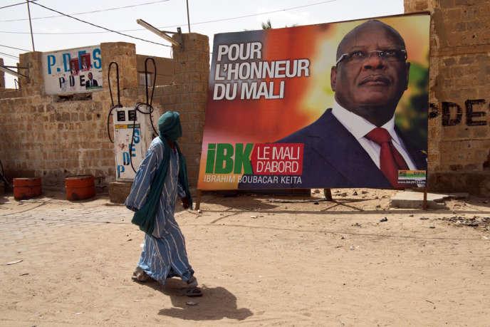 Affiche du candidat à l'élection présidentielle Ibrahim Boubacar Keïta,