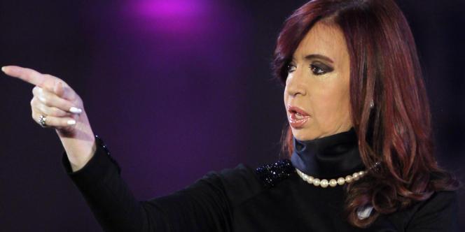 Attaqué par des fonds spéculatifs, le pays attend le verdict de la Cour suprême américaine. La présidente Cristina Kirchner, à  Buenos Aires.