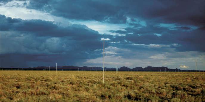 Walter De Maria, The Lightning Field, 1977.