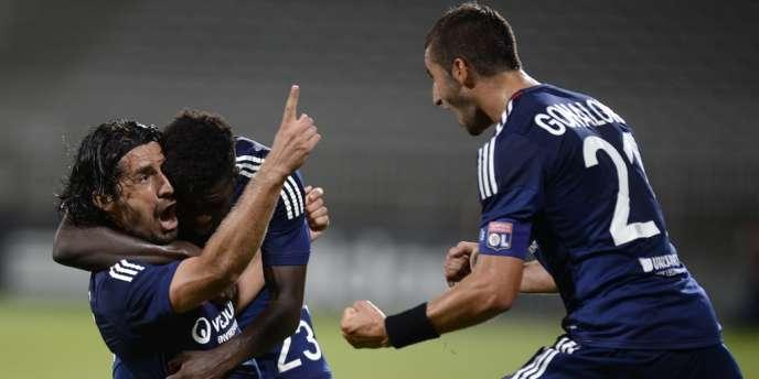 Milan Bisevac, auteur du but de Lyon contre Zurich, mardi 30 juillet, au troisième tour préliminaire aller.
