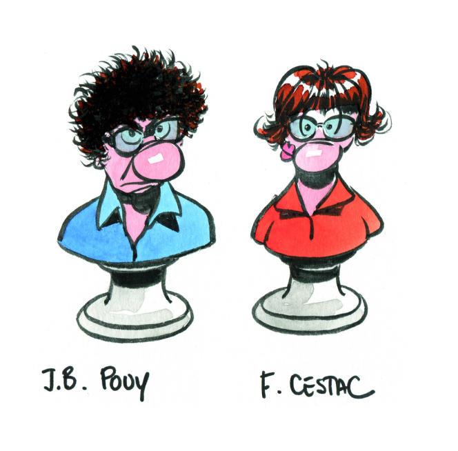 Jean-Bernard Pouy et Florence Cestac, vus par Florence Cestac.