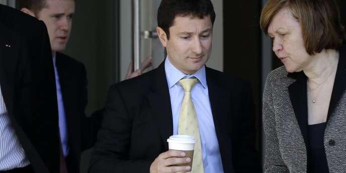 Fabrice Tourre lors de son arrivée au tribunal de New York, mercredi 31 juillet.