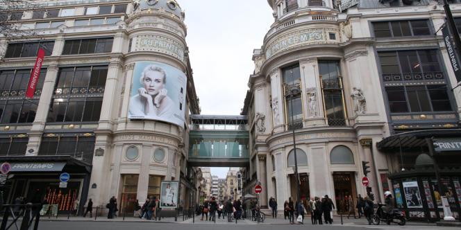 La façade du Printemps, à Paris.