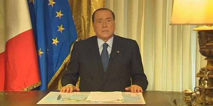 Silvio Berlusconi dans l'allocution vidéo publiée après la confirmation de sa condamnation par la Cour de cassation dans l'affaire Mediaset.