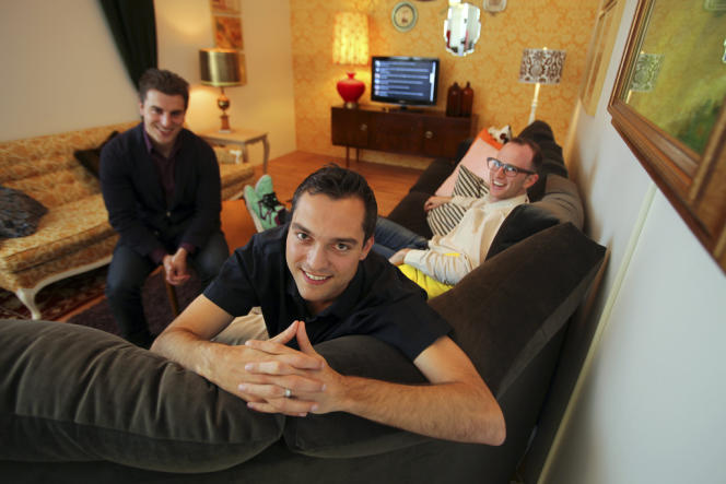 Brian Chesky, Nathan Blecharczyk et Joe Gebbia, les fondateurs de Airbnb.