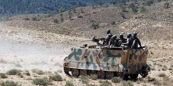 Des militaires tunisiens dans la région du mont Chaambi, en juin 2013.
