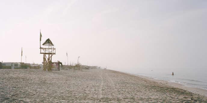 La plage au petit matin.