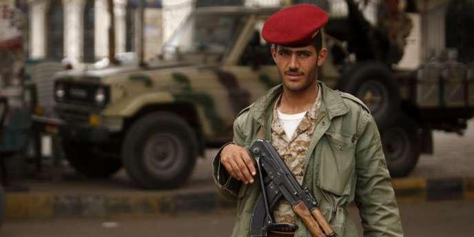 Checkpoint de l'armée yéménite à Sanaa, le 5 août.