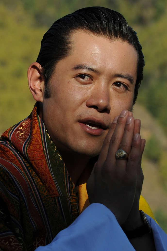 Jigme Khesar Namgyel Wangchuck, cinquième roi du Bhoutan, a été couronné à 28ans, le 6novembre2008.