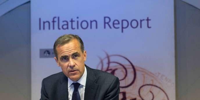 Mark Carney lors de la présentation du rapport sur l'inflation, le 7 août à Londres.