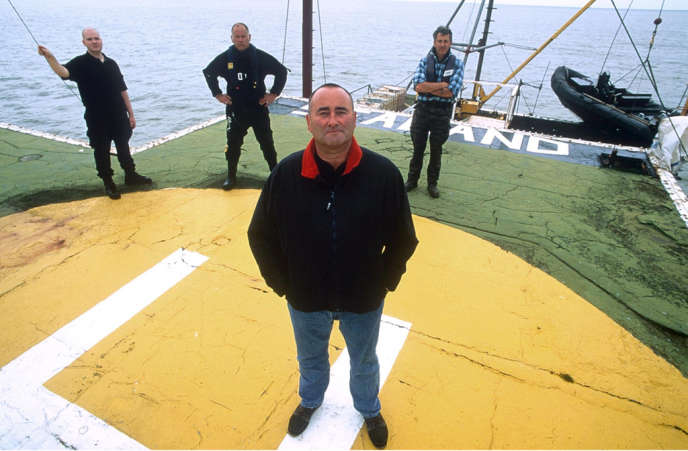 Mandatory Credit: Photo by Philippe Hays / Rex Features (374089f)MICHAEL BATESSEALAND FORT OFF THE ESSEX COAST IN BRITAIN - 2001