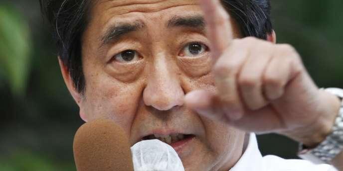 Le premier ministre japonais, Shinzo Abe, en juillet.