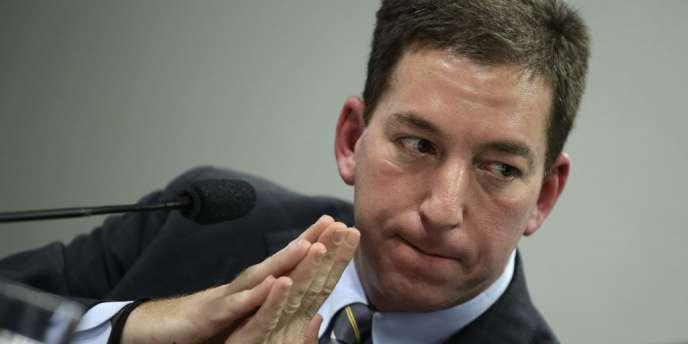 Le journaliste Glenn Greenwald à Brasilia, le 6 août.
