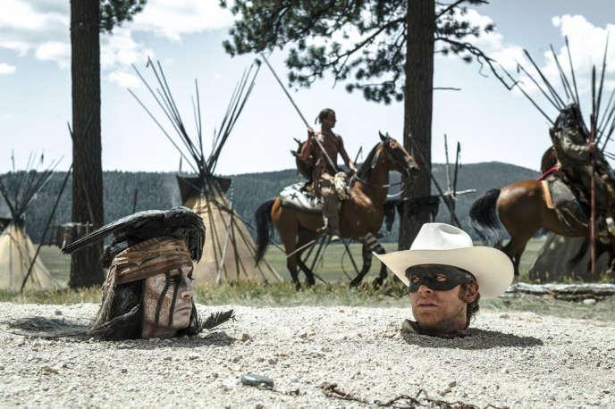 Johnny Depp et Armie Hammer dans le film américain de Gore Verbinski,