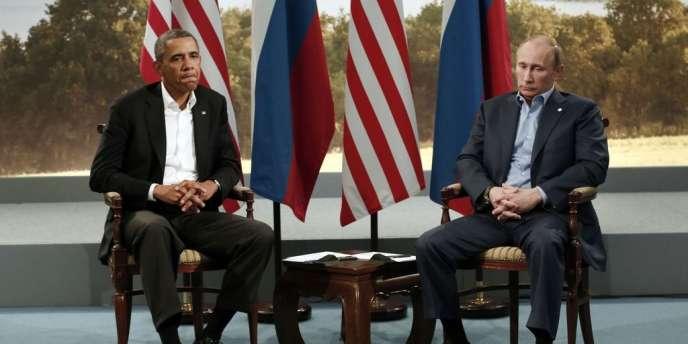 Barack Obama et Vladimir Poutine le 17 juin au sommet du G8 en Irlande du Nord.