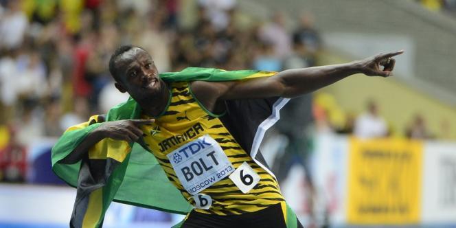 Usain Bolt, le 11 août à Moscou.