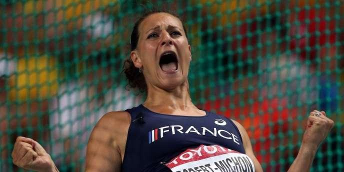 Mélina Robert-Michon a pris la deuxième place du disque dimanche à Moscou.