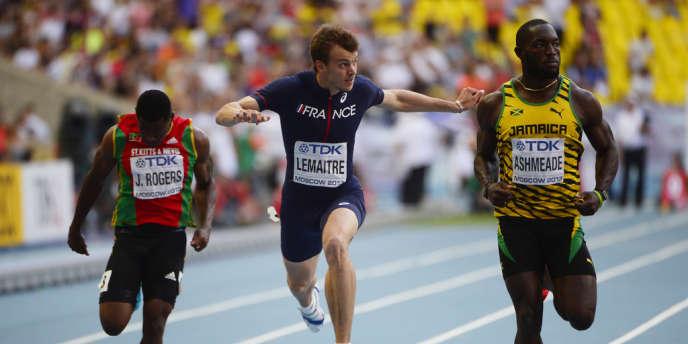 Christophe Lemaitre, le 11 août à Moscou.