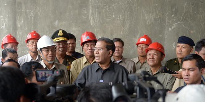 Le premier ministre cambodgien, Hun Sen, à Phnom Penh, le 31 juillet.