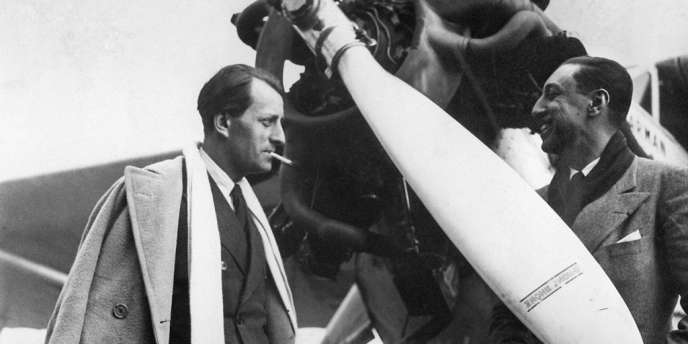 Photo datée de 1934 de l'écrivain français André Malraux, un an après avoir obtenu le prix Goncourt pour son roman