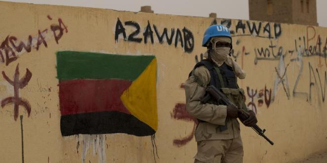 Un membre des forces de l'ONU, à Kidal, le 28 juillet 2013.