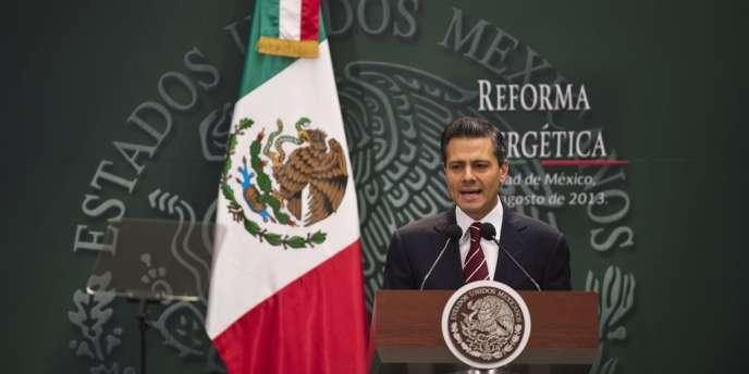 Le président mexicain Enrique Pena Nieto présente la réforme de Pemex, le 12 août à Mexico.