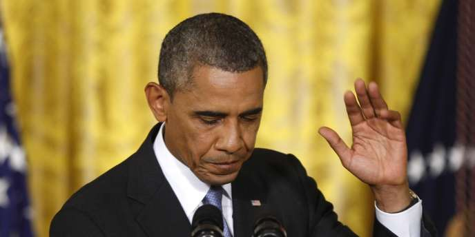 Barack Obama lors de sa conférence de presse du 9 août.