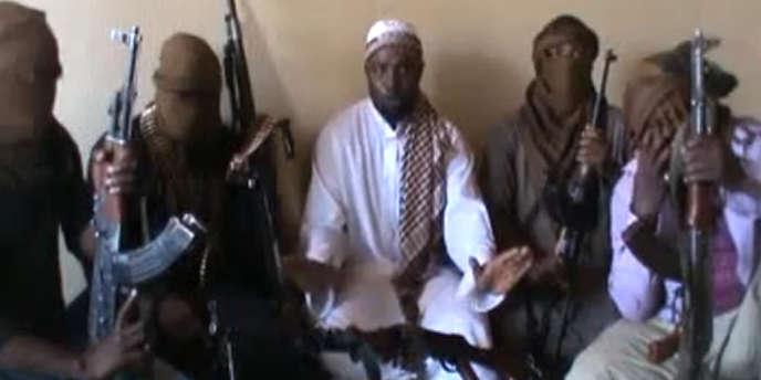 Capture d'écran montrant le chef de Boko Haram, Abubakar Shekau, en avril 2012.