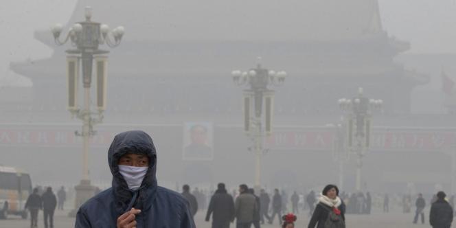 Sur la place Tiananmen à Pékin, le 29 janvier.