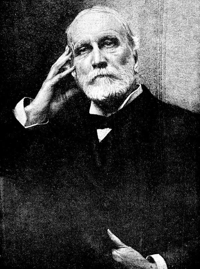 Portrait d'Henri Germain d'après le tableau d'Aimé Morot. Gravure d'Achille Jacquet, 1897.
