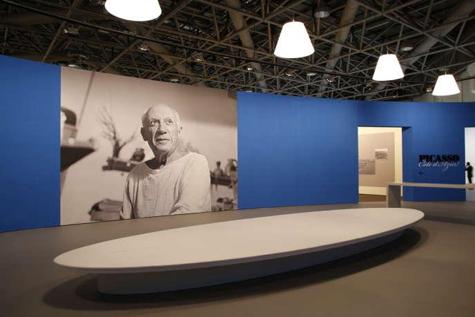 L'entrée des expositions consacrées à Pablo Picasso au Grimaldi Forum à Monaco.