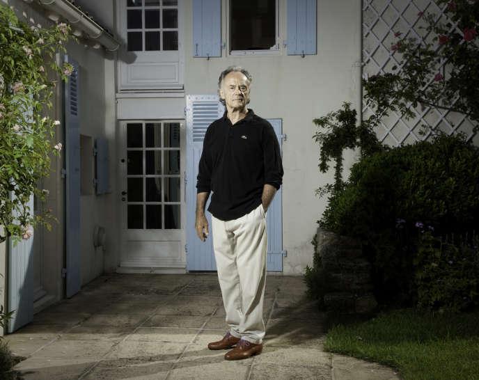 Le chef d'orchestre Jean-Claude Casadesus dans sa maison de l'île de Ré, le 2 août 2013