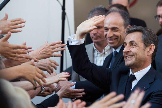 Nicolas Sarkozy lors de son passage au siège de l'UMP le 8 juillet.