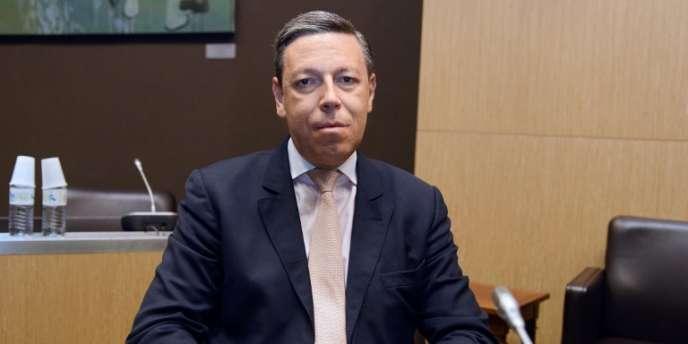 Pierre Condamin-Gerbier, ancien employé de la banque Reyl et Cie, en juillet à l'Assemblée nationale.