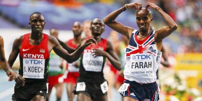 Mo Farah s'impose encore lors du 5 000 m vendredi à Moscou.