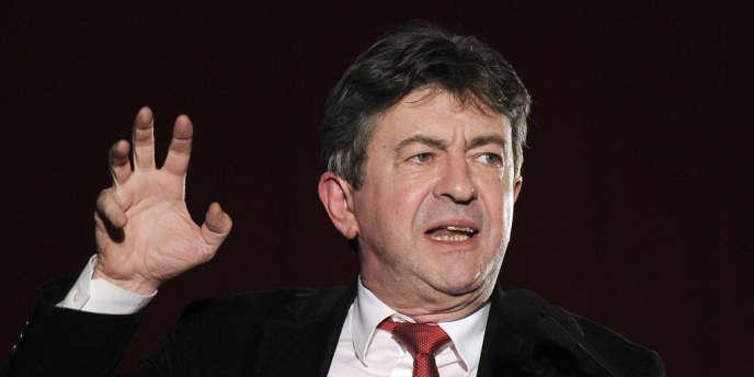 Le coprésident du Parti de gauche, Jean-Luc Mélenchon, le 11 avril à Montpellier.