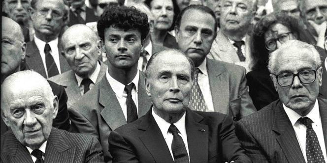 Jean Kahn et le président François Mitterand.