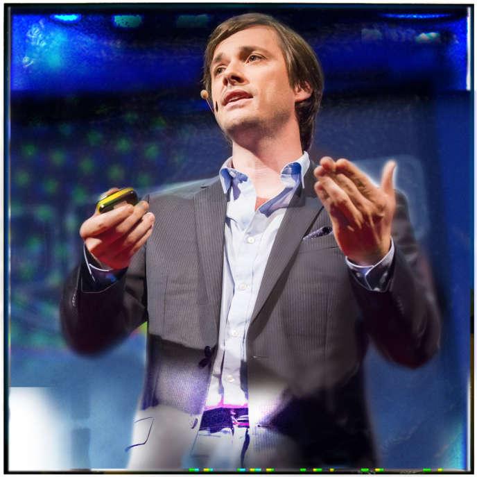 Le chercheur français Grégoire Courtine, lors de la conférence TEDGlobal à Edimbourg (Ecosse), en juin 2013.