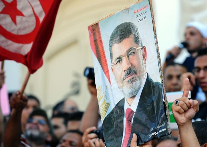 Une manifestation en faveur de Mohamed Morsi, le 16 août à Tunis.