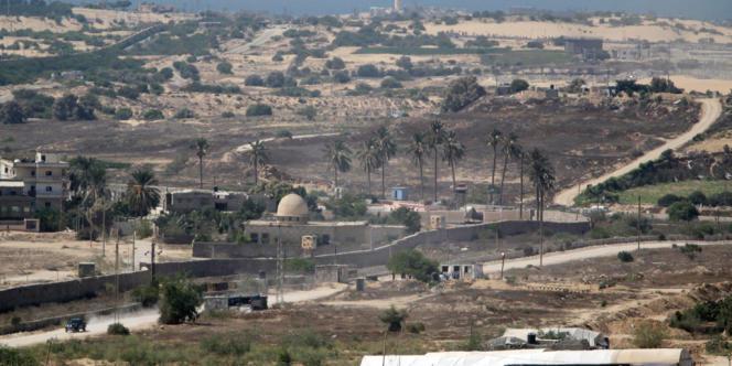 La zone frontalière entre l'Egypte et la Bande de Gaza, le 19 août 2013.