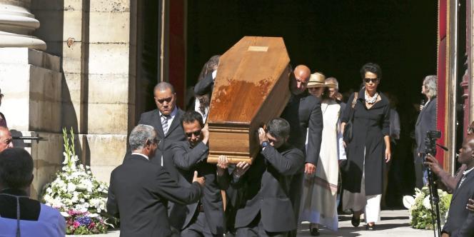 Le cercueil de Jacques Vergès à l'église Saint-Thomas d'Aquin, mardi 20 août.