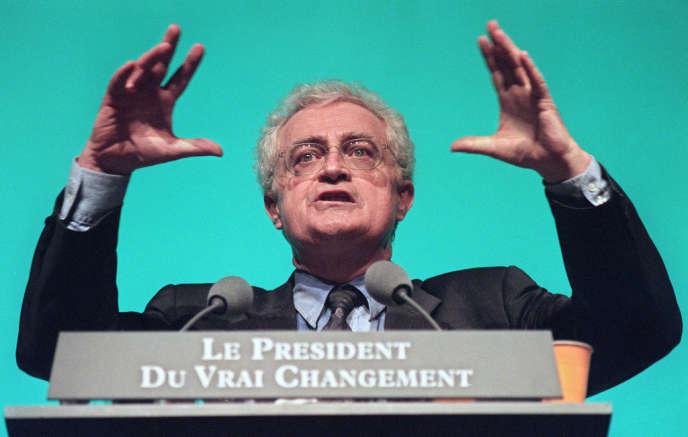 Lionel Jospin, candidat PS à la présidentielle, le 28 avril 1995.