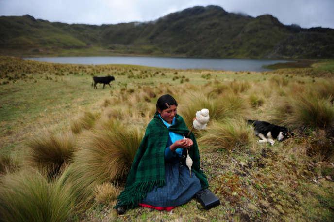 Un des cinq lacs menacés par le projet de mine Conga, à Cajamarca.