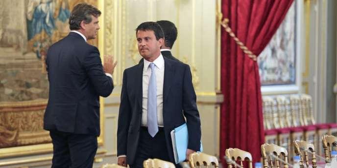 Manuel Valls, lors du séminaire de rentrée gouvernemental, lundi 19 août à l'Elysée.
