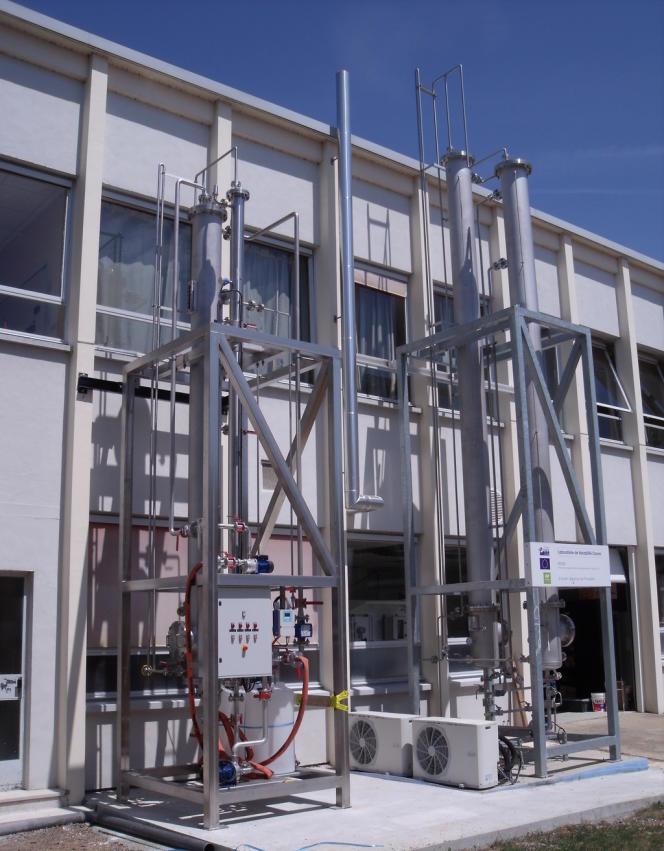 Prototype d'unité d'ozonation, sur le site de LaSalle-Beauvais.
