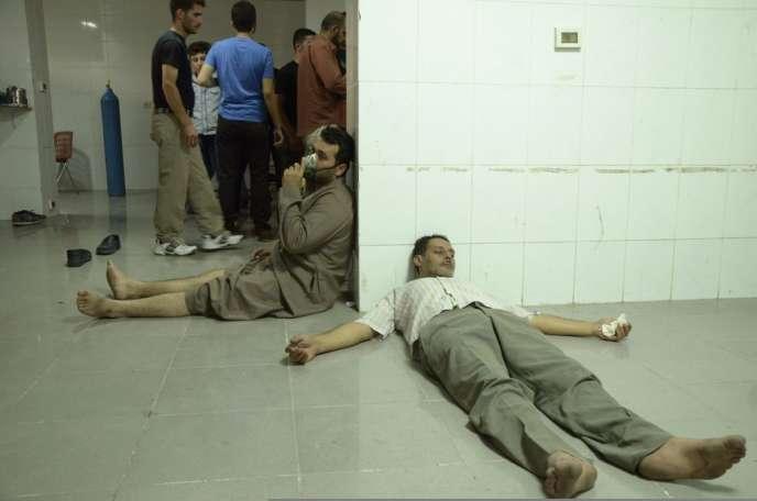 Des victimes de l'attaque chimique, le 21 août dans les environs de Damas.