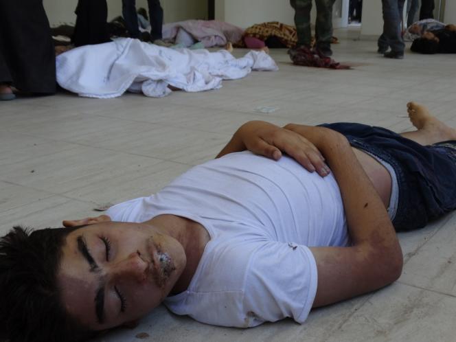 Une victime de l'attaque du 21 août dans les faubourgs de Damas.
