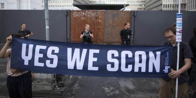 Manifestation à Berlin contre la surveillance exercée par la NSA, le 29 juillet 2013.